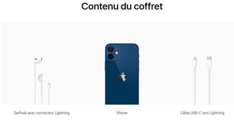法國蘋果官網,依然顯示有附耳機。圖取自蘋果官網