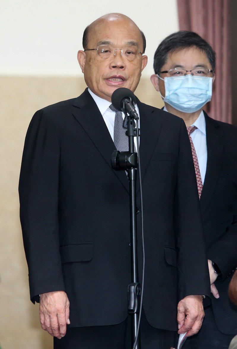 行政院長蘇貞昌(左)。記者胡經周/攝影