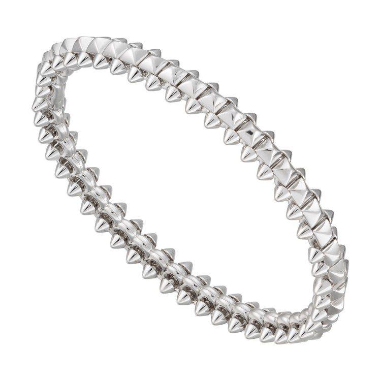 CLASH DE CARTIER系列白K金手環,28萬7,000元。 圖/卡地亞...