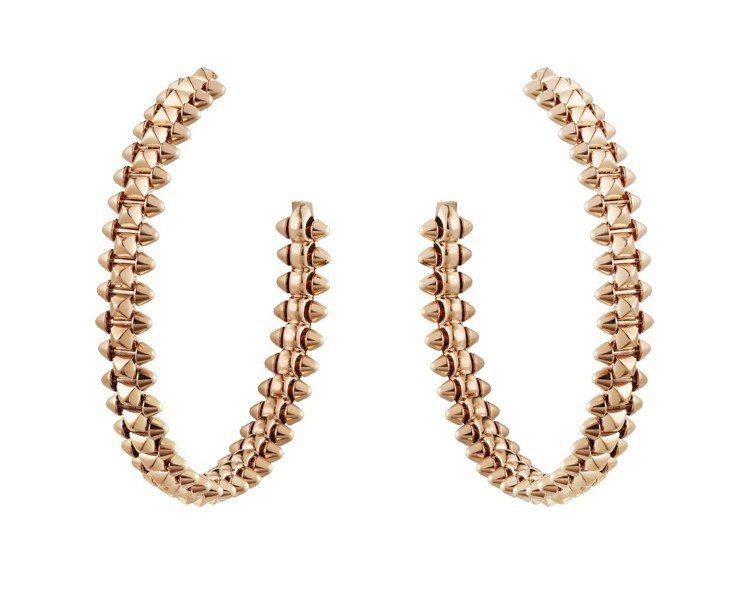 CLASH DE CARTIER系列玫瑰金鑲鑽耳環,42萬1,000元 圖/卡地...