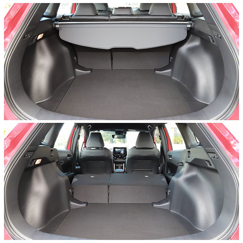 Toyota Corolla Cross後行李箱基本就有487L容積表現,亦能透...