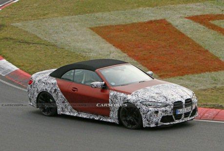 2021 BMW M4 Convertible半偽裝紐伯林奔馳 橘紅色車身性能味十足