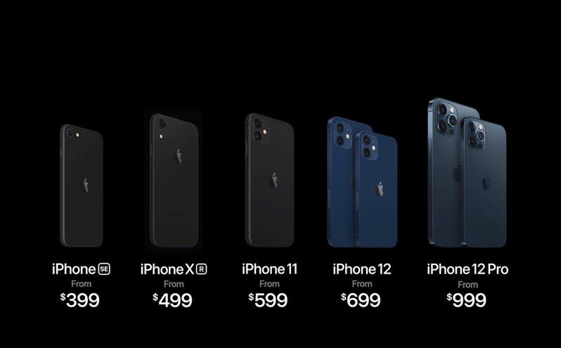 蘋果新機售價。 美聯社