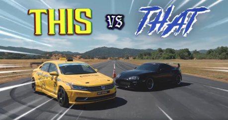 影/VW Passat甩尾賽車單挑720匹馬力Toyota Supra!