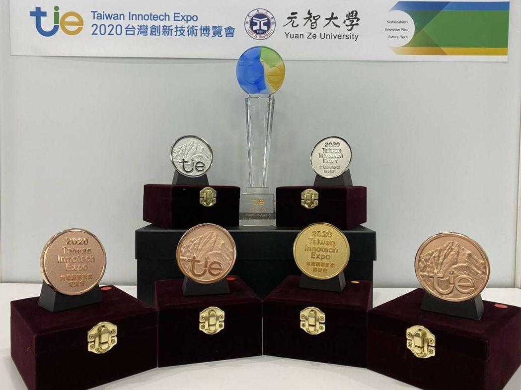 元智大學於2020台灣創新技術博覽會中獲得1座鉑金獎、1面金牌、2面銀牌及3面銅...