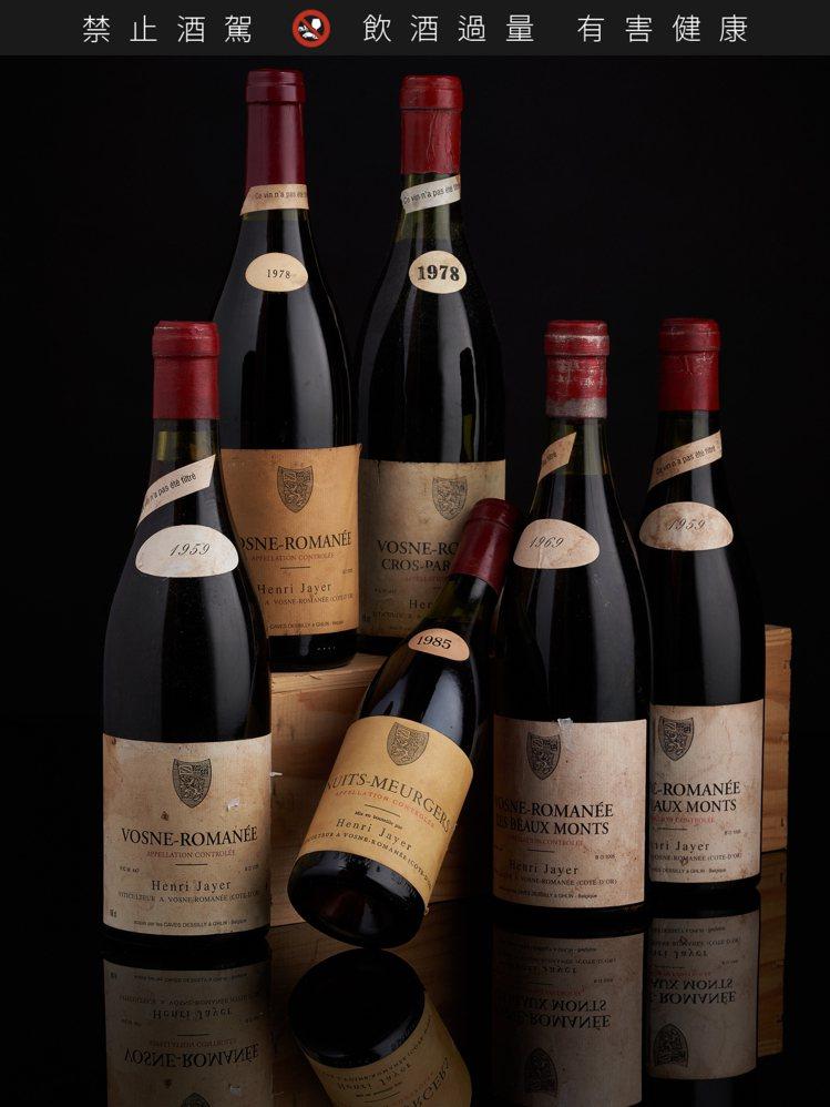 亨利·賈伊(Henri Jayer)酒莊陳年名釀,包括Vosne Romanée...