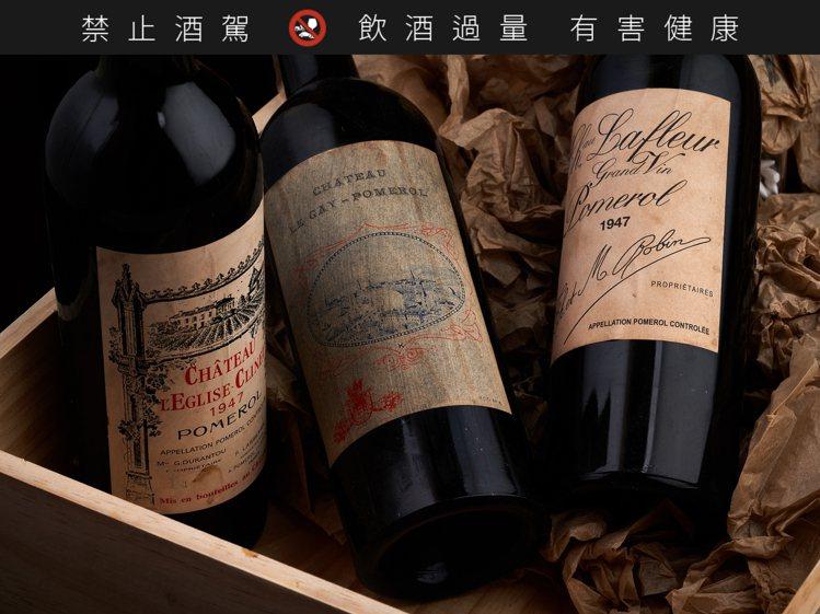 Bordeaux 1947 CHATEAU L'EGLISE CLINET,5瓶...