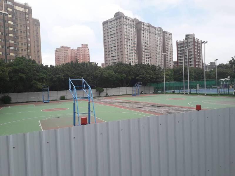 新北市第一座天幕籃球場即將在板橋八德公園動工。記者王敏旭/攝影