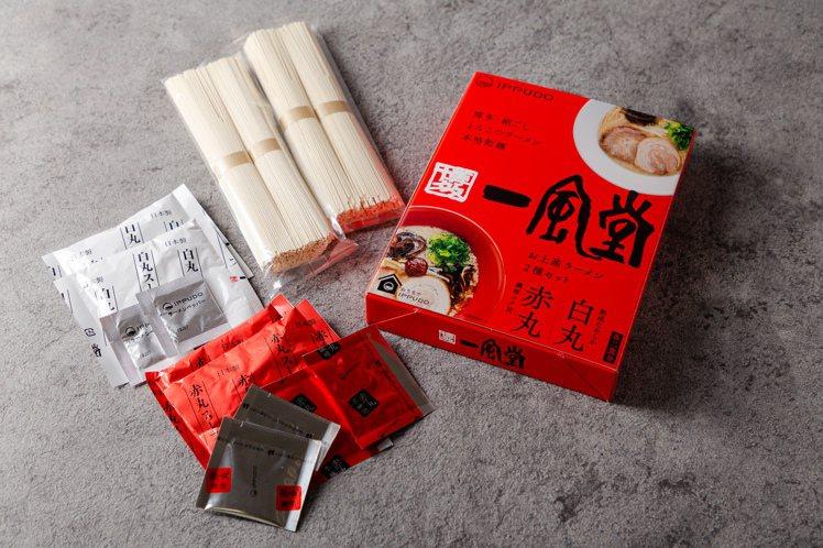 一風堂豚骨拉麵禮盒組,內含2份白丸元味、2份赤丸新味,每盒750元。圖/一風堂提...