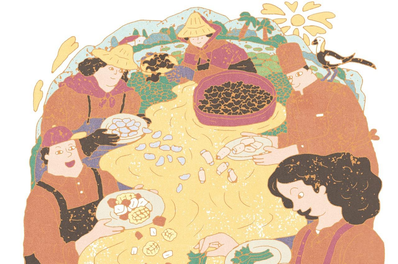 【秋之味‧插畫展】迷人的菱角排骨湯