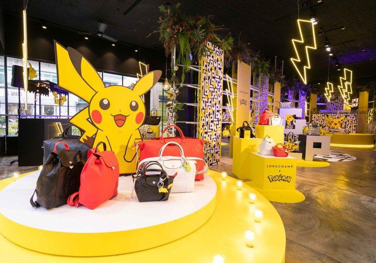 Longchamp x Pokemon聯名系列歡慶上市,在台北MARAIS瑪黑家...