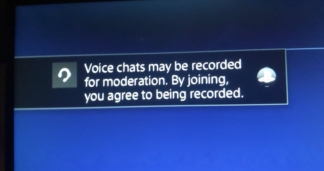 「語音聊天可能會被適度錄下。加入本派對意味著你已同意被人錄下。」 圖:Twitt...