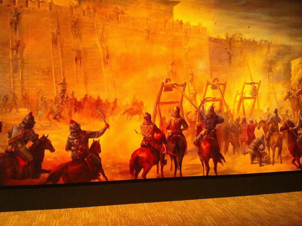 空前绝后的蒙古王者,让蒙古族的共同体意识由此而生。图为美国加州圣荷西一间博物馆,...