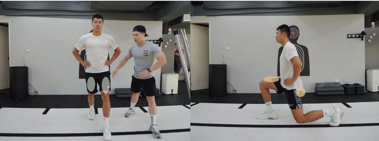 分腿蹲-股四頭肌、臀肌 圖/主婦聯盟