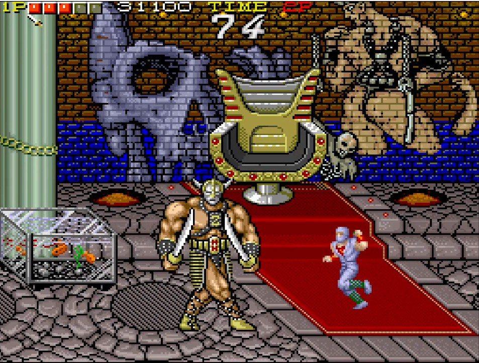 遊戲的最終魔王,是個拿雙刀穿著露出度極高鎧甲的肌肉棒子,和《戰斧》的感覺十分相似...