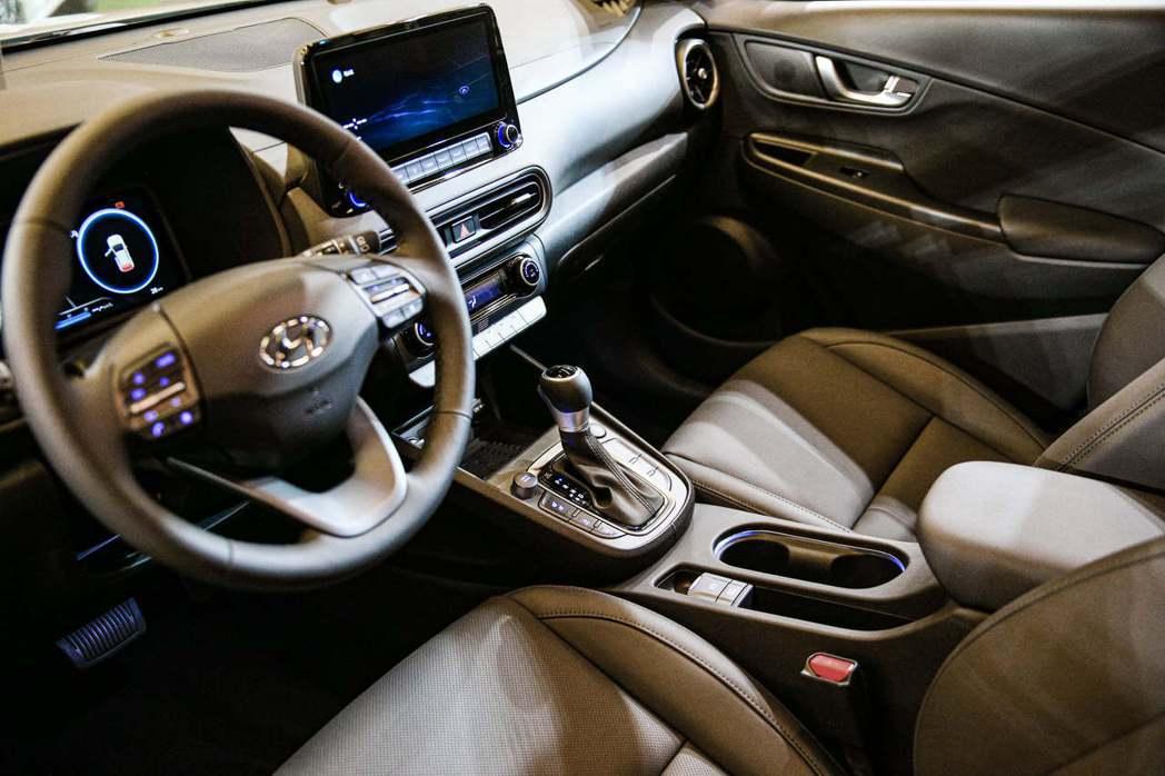 小改款Hyundai Kona內裝。 摘自Hyundai