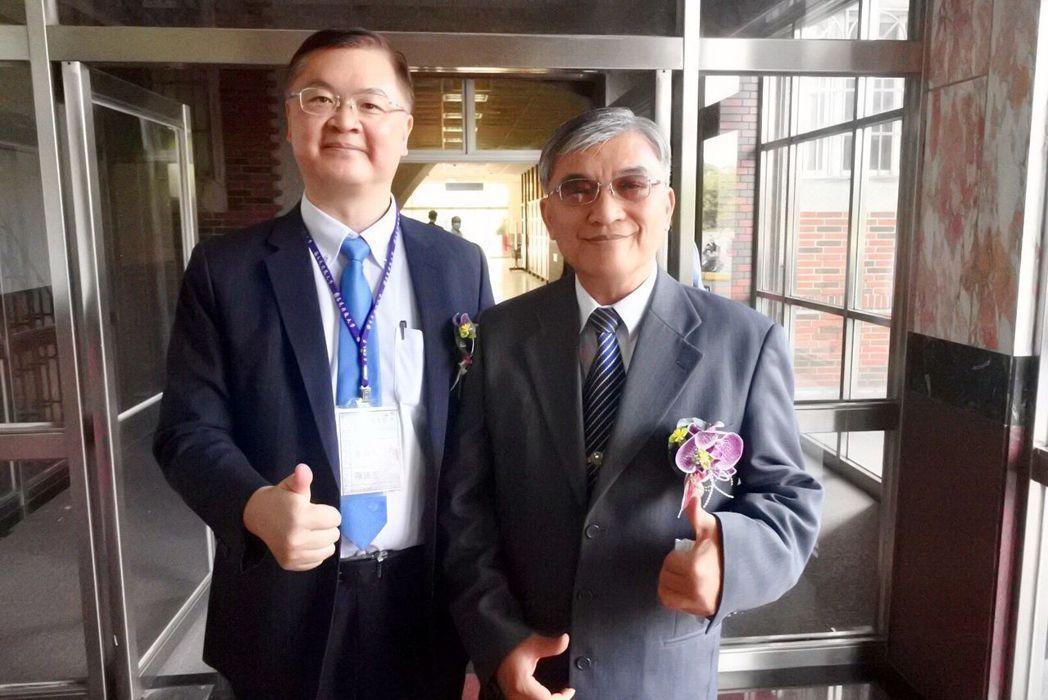 高苑科大趙必孝校長(右)與高雄市政府羅達生副市長(左)合影。 高苑科大/提供