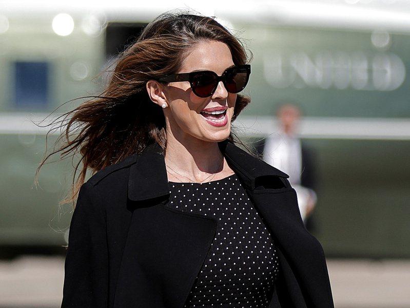 白宮高級顧問希克斯確診新冠病毒後,經兩周隔離,15日又恢復與總統川普的競選活動。這是她確診染疫之後,第一次公開露面,全程不戴口罩。(路透)