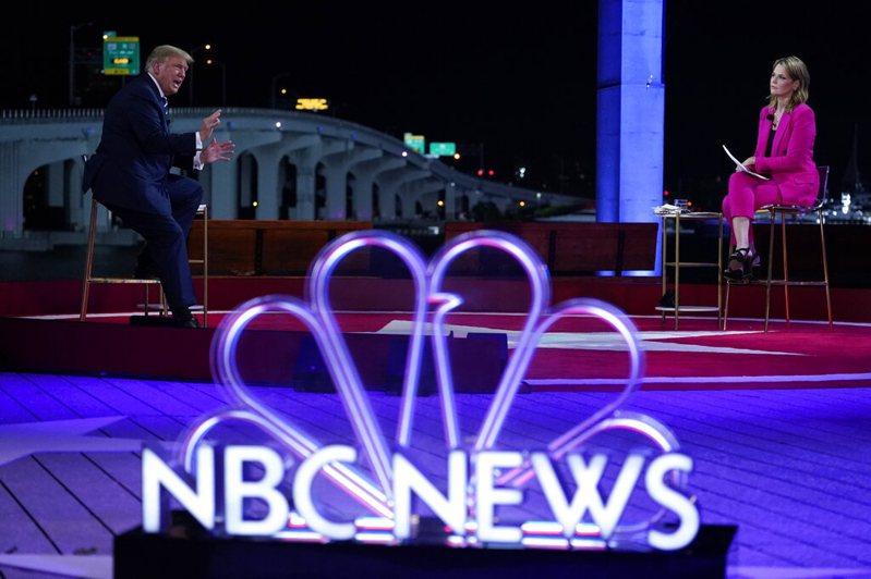 川普總統市民大會,由美國國家廣播公司(NBC)轉播。美聯社