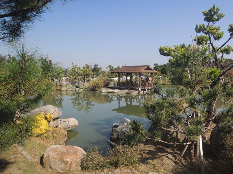 圖七:仿日式庭園建造工法的台版兼六園