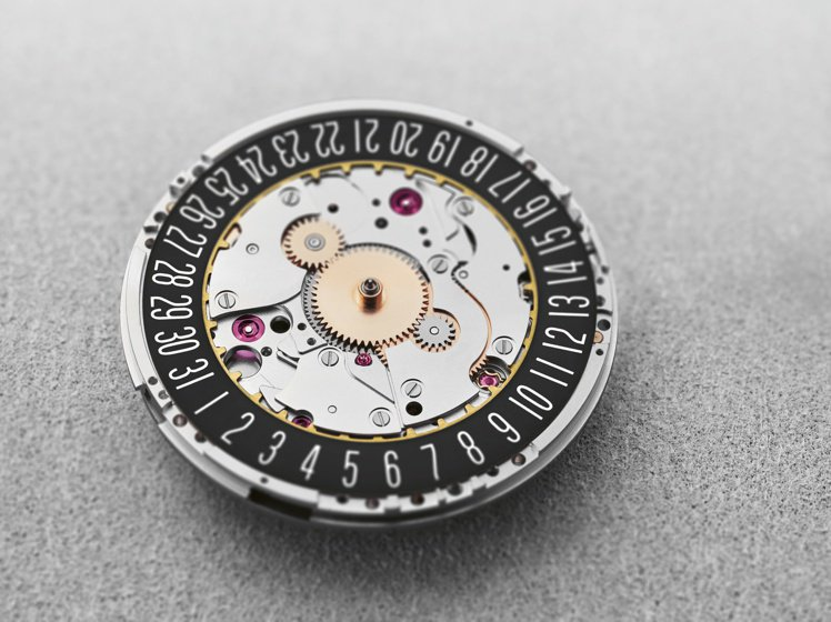 外環的日期顯示,確定未來這枚機芯將具備基礎的日常曆象指示。圖 / ORIS提供。