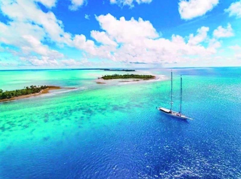 外傳帛琉旅遊泡泡最快十一月上路。圖為帛琉美景。法新社