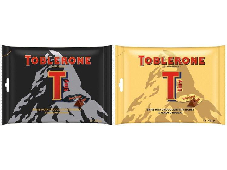 Toblerone瑞士三角黑/牛奶巧克力,單袋特價129元,任2袋特價229元。...
