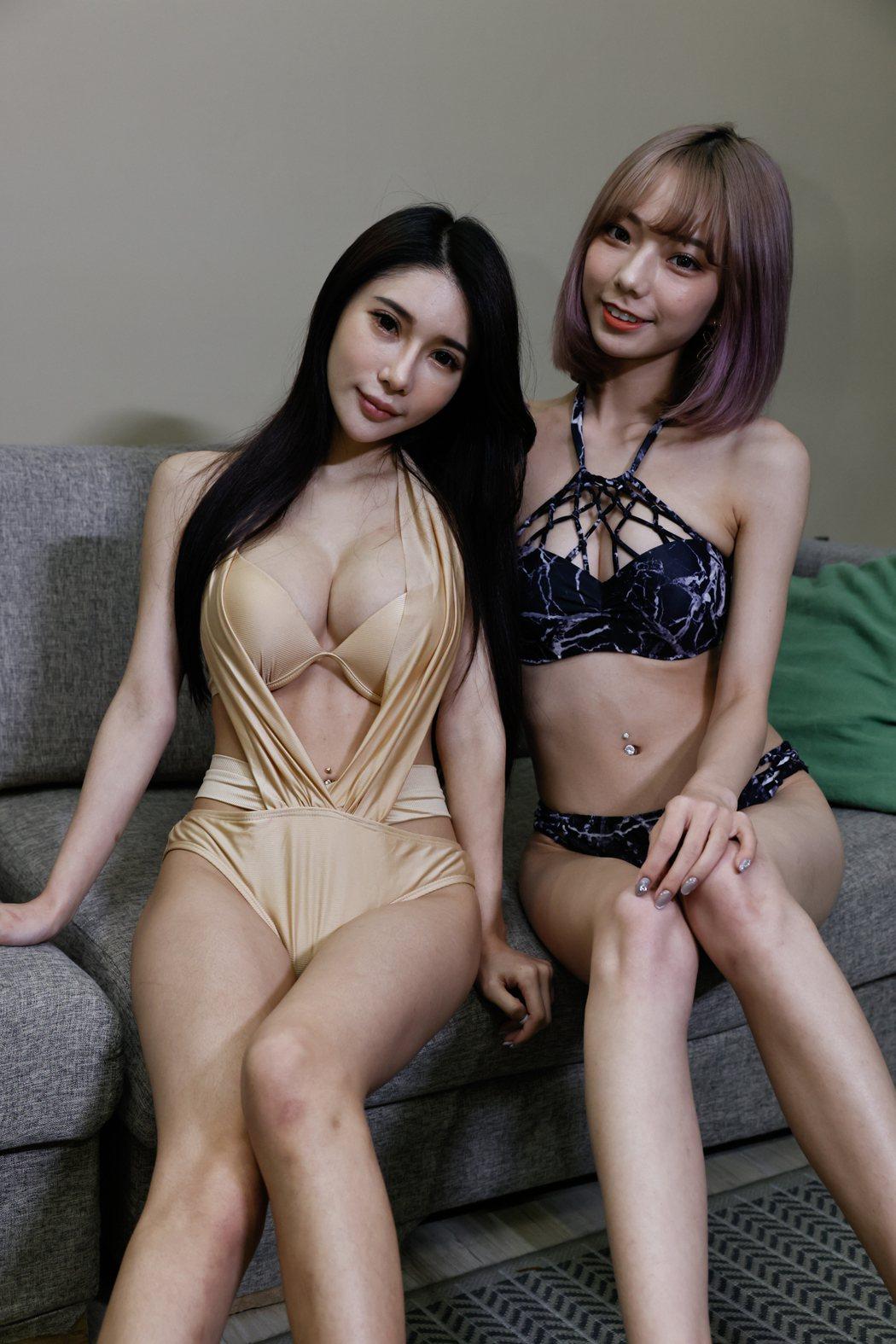 啾啾和網紅琪琪一起受訪。記者葉信菉/攝影