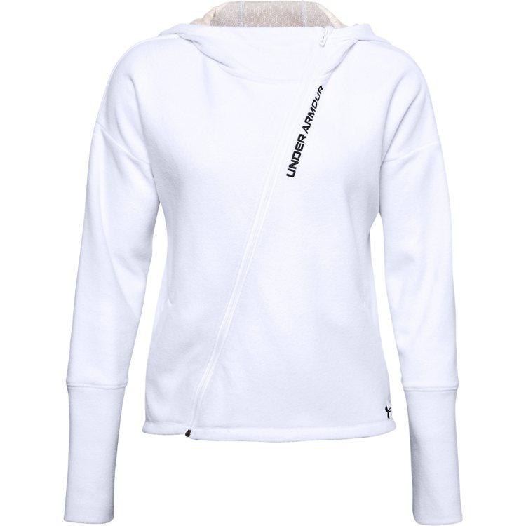 Recover Fleece系列連帽外套3,080元。圖/UNDER ARMOU...
