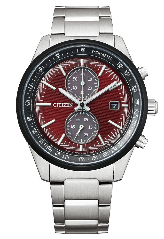 CITIZEN東京‧紅系列CA7034-96W腕表,不鏽鋼表殼、表鍊,全球限量2...