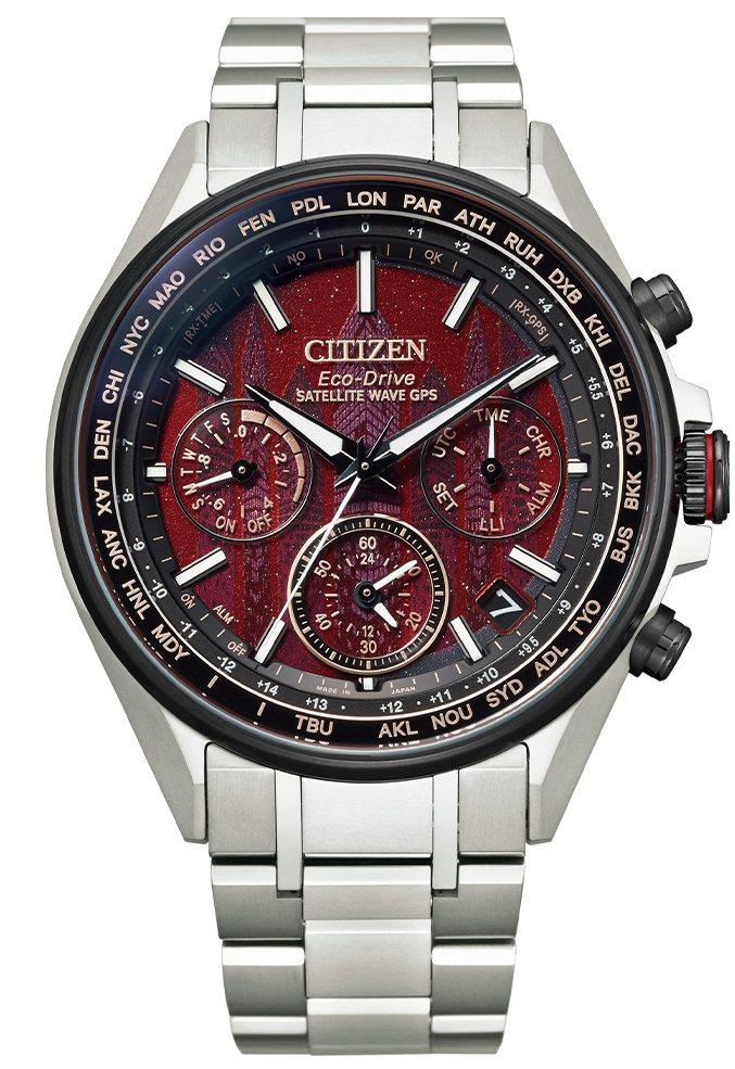 CITIZEN東京‧紅系列CC4005-71Z腕表,鈦金屬表殼、表鍊,全球限量1...