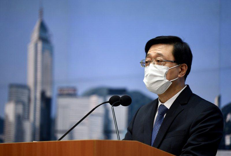港保安局局長李家超昨表示,港府對陳同佳案,會提供任何可行的安排,但須符合香港法律。(中通社)
