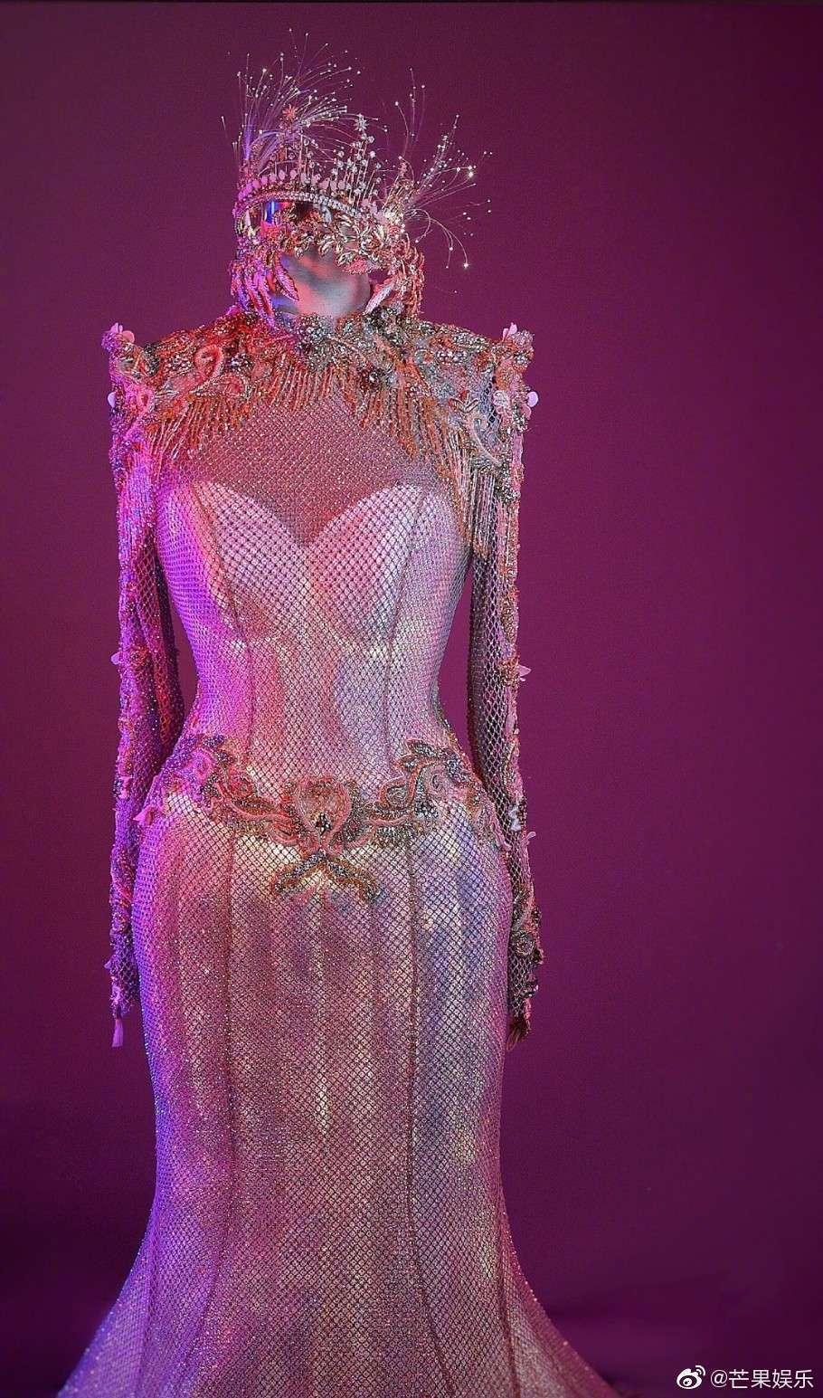 禮服模樣。圖/擷自微博視頻