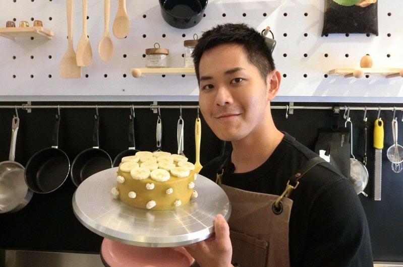 不加糖、奶油的地瓜戚風蛋糕,是健身族群安心入口的健康甜點。攝影/張念慈