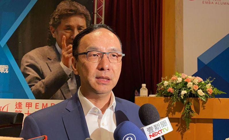 國民黨前主席朱立倫呼籲對岸思考,台灣民眾需要的是和平,而不是製造反感跟困擾。 記者趙容萱/攝影