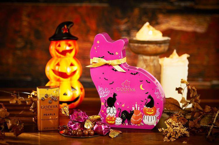 不給巧克力就搗蛋!小黑貓藏在這。圖/GODIVA提供