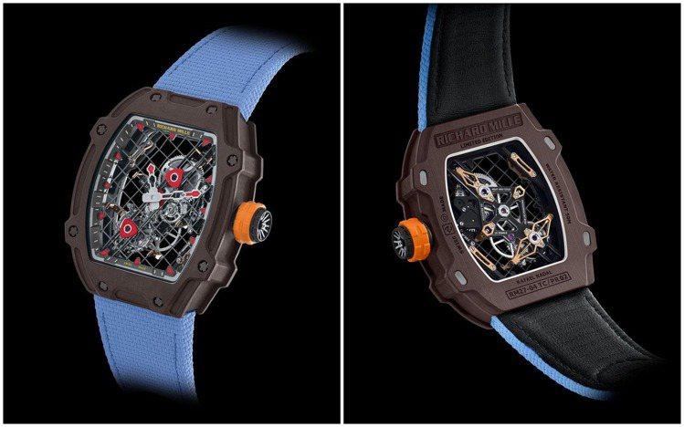 以網球拍為靈感的RM 27-04腕表,帶有活潑的趣味性與強烈視覺。圖 / RIC...