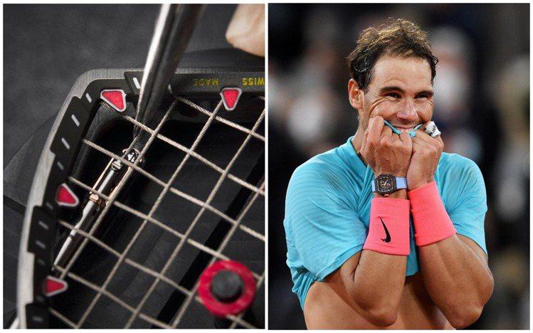 Rafael Nadal在奪下法網冠軍時,配戴了具有鋼索機芯的超輕量抗震RM 2...