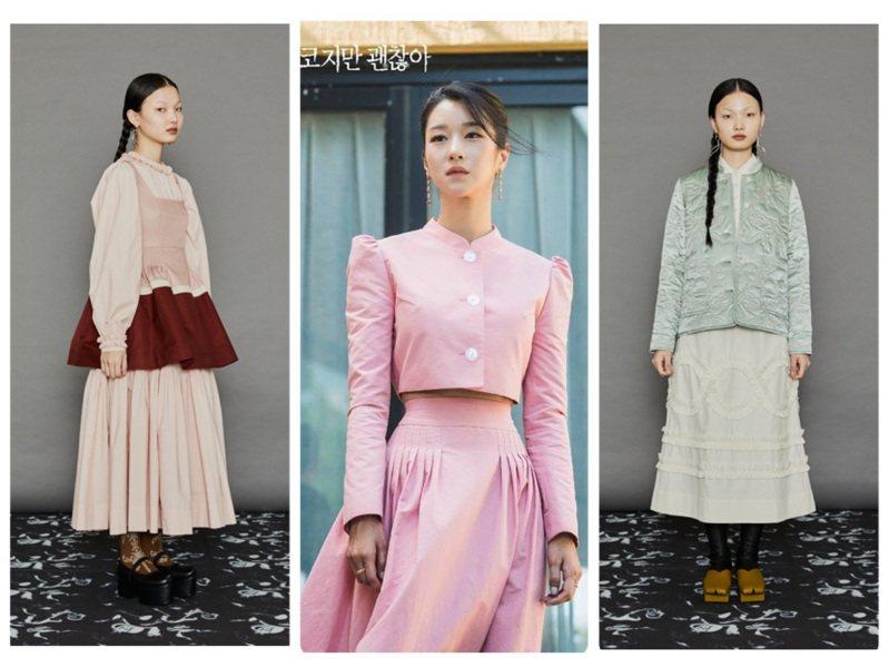 徐睿知在韓劇中詮釋的韓國品牌MINJUKIM,目前由選品店LIGHTWELL引進台灣。圖/取自IG、MINJUKIM提供