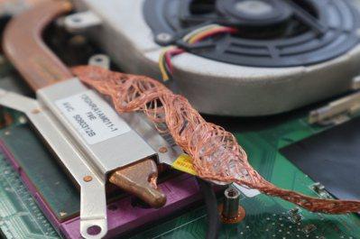 銅線可應用於3C產品散熱板。記者陳葦庭/攝影