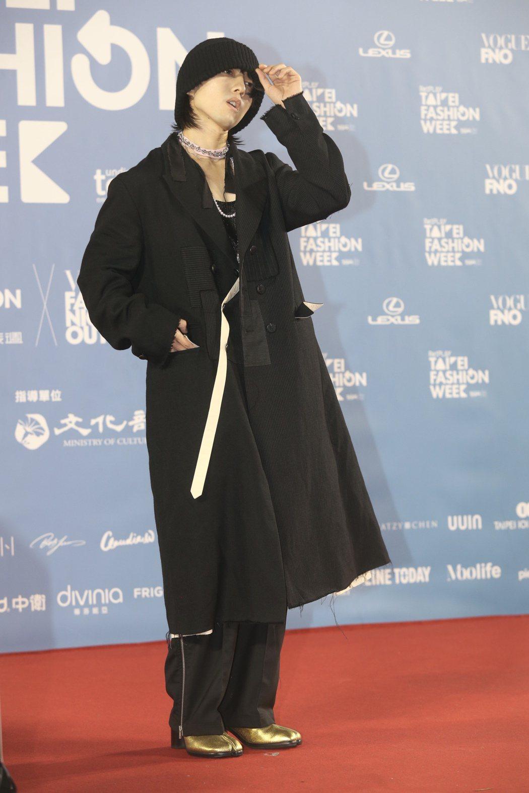 林宥嘉出席台北時裝周押軸時尚大秀。記者林俊良/攝影