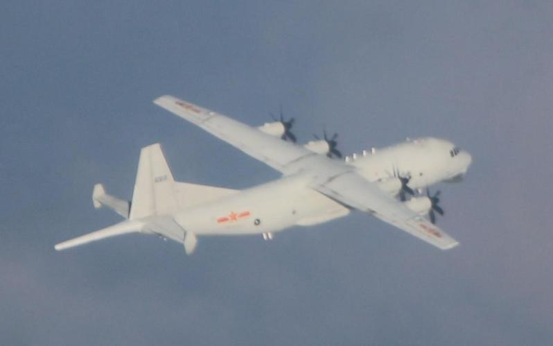 共軍運8反潛機。圖/國防部提供