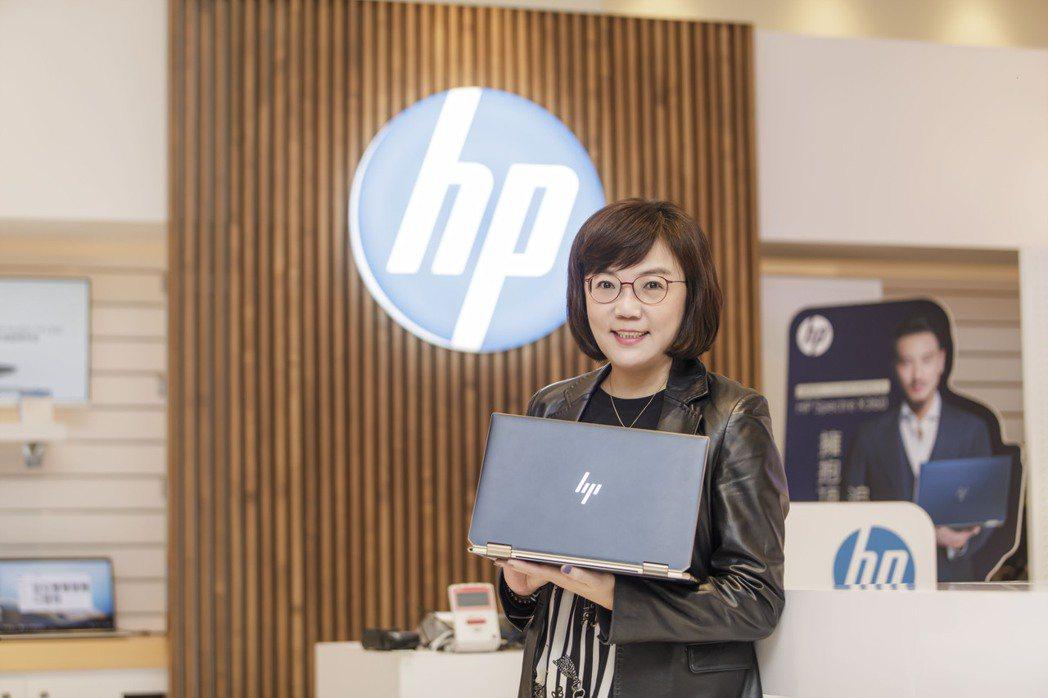 台灣HP董事長暨總經理王靜秀。 羅建豪/攝影