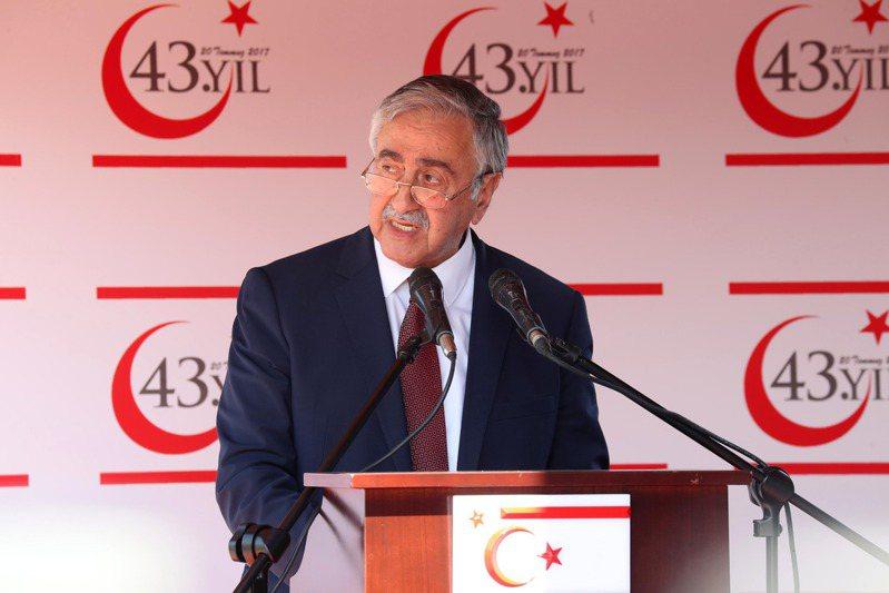 圖為北賽普勒斯土耳其共和國(Turkish Republic of Northern Cyprus, TRNC)現任總統阿欽席(Mustafa Akinci)。 歐新社