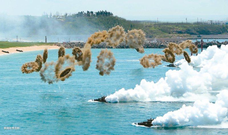 白宮國安顧問歐布萊恩十六日表示,他不認為中國會在此時發動,或是準備好要對台灣發動兩棲登陸行動;圖為「漢光33號」演習。本報資料照片