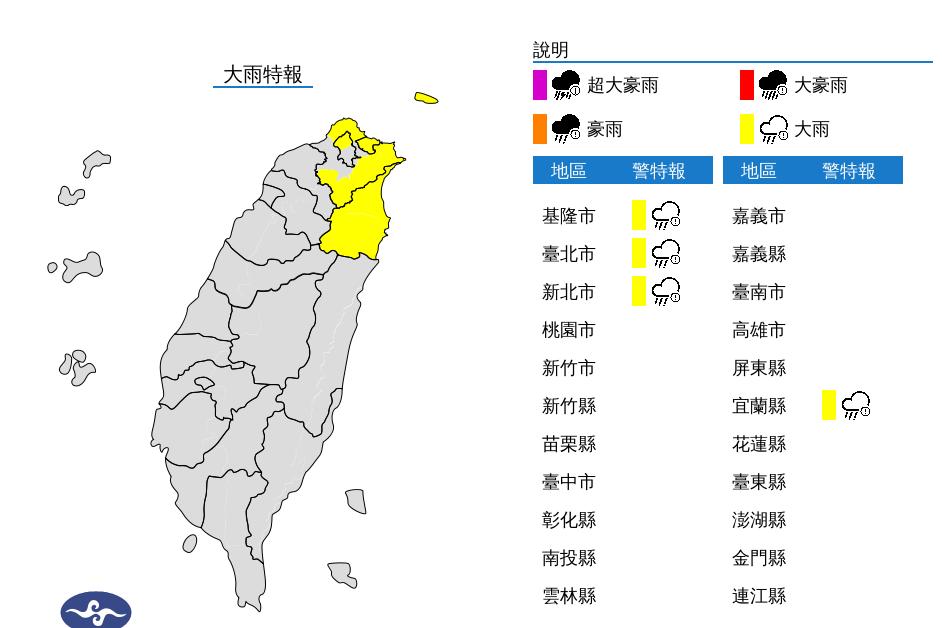 北北基宜大雨特報 吳德榮:下周注意共伴效應挾水氣