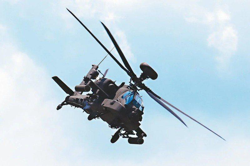 圖為AH-64E阿帕契攻擊直升機。聯合報系資料照片