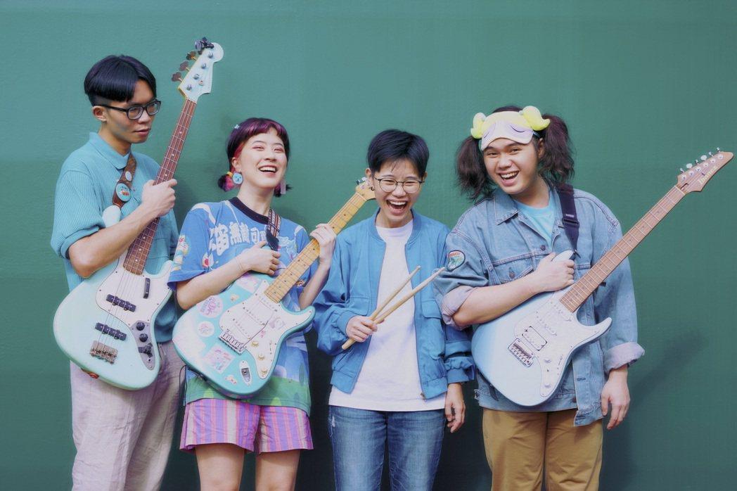 海豚刑警成軍3年,今年獲金曲最佳樂團入圍肯定。圖/海豚刑警提供