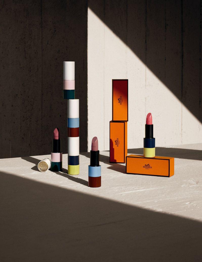 秋冬限量版Rouge Hermès愛馬仕唇妝系列全系列三色將於10月20日上市。圖/愛馬仕提供