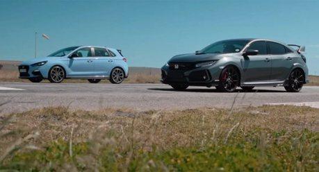 影/日韓H正面廝殺!Honda Civic Type R和Hyundai i30 N誰加速略勝一籌?
